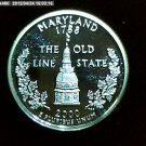 "2000-S Washington Qaurter. SILVER PROOF. ""Maryland"""