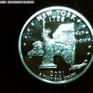 "2001-S Washington Qaurter, SILVER PROOF. ""NEW YORK"""
