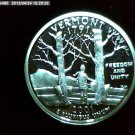 "2001-S Washington Qaurter. SILVER PROOF. ""Vermont"""
