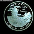 "2009-S Washington Quarter. SILVER PROOF. ""Puerto Rico"""