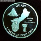 "2009-S Washington Quarter. SILVER PROOF. ""Guam"""