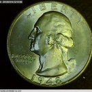 1948, Washington Quarter. Brilliant Mint Luster. Choice UN-Circulated Raw Coin.