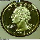 1996-S Washington Silver Proof Quarter.  Choice Proof. *SILVER*
