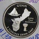 "2009 Washington Quarter, U.S. Territories, GUAM. 3 Coin Set. ""P"", ""D"" and ""S""."