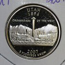 2007 Washington State Quarter, 3 Coin Set, P/D/S. Utah ,  B.U./Proof.