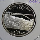2005 Washington State Quarter, 3 Coin Set, P/D/S. West Virginia ,  B.U./Proof.