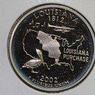 2002 Washington State Quarter, 3 Coin Set, P/D/S. Louisiana.,  B.U./Proof.