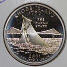 2001 Washington State Quarter, 3 Coin Set, P/D/S. Rhode Island.,  B.U./Proof.