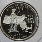 2000 Washington State Quarter, 3 Coin Set, P/D/S. Massachusetts. B.U./Proof.