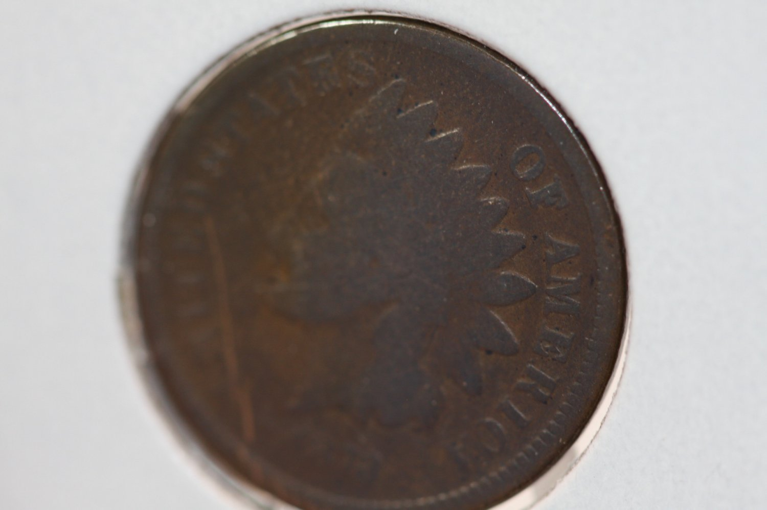1873 Indian Head Penny-Circulated Coin-Nice Details #3494