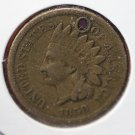 1859 Indian Head Penny.  Circulated Coin Damaged. #4577