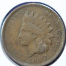 1907 Indian Head Penny, Circulated, Partial Liberty  #4793