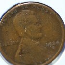 1924-S Lincoln Wheat Cents.  Good Circulated Coin.  #4917