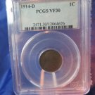1914-D Lincoln Wheat Cents.  Semi-Key Date.