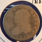 1818 25C Capped Bust Quarter.  Well Circulated.  Low Mintage.  BX-5259