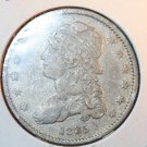 1835 Capped Bust Quarter.  25C Piece.  Nice Problem Free Coin.  BX5261