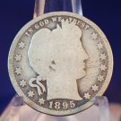 1895 25C Barber Quarter. Average Circulated Coin.  BX-5298