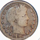 1895 25C Barber Quarter. Very Good Circulated Coin.  BX-5302