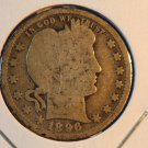 1896 Barber Quarter. Average Circualted Coin.  BX-5308