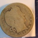 1899-O Barber Quarter. Well Circulated Condition.  BX-5370