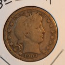 1903 Barber Quarter.  Good Circualted Coin.  BX-5430