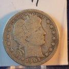 1904 Barber Quarter.  Good Circulated Coin.  BX-5438