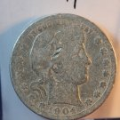 1904 Barber Quarter.  Fair Circulated Coin.  BX-5440