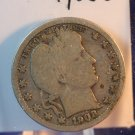 1908-O Barber Quarter.  Silver Quarter. Nice Rims.  BX-5476