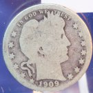 1909-S Barber Quarter. Well Circulated Condition.  Bx-5544