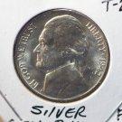 "1942-P Jefferson Silver Nickel.  ""War Era"".  Brilliant UN-Circulated Coin. CS#7482"