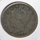 1884 Liberty Nickel, Very Fine Circulated Condition. CS#7759