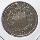 1883 Shield Nickel. Choice About UN-Circulated. CS#7765
