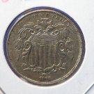 1868 Shield Nickel, Nice UN-Circualted Condition. CS#7773