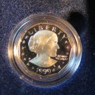 1999 $1 Susan B. Anthony. Proof Coin In Original Mint Box and C.O.A.