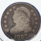 1827 Capped Bust Dime. Well Circualed Good Detailed Coin - Bent - CS#8148