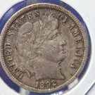 1892-O Barber Dime.  Nice Collectible Coin.  Better Grade for Date. CS#8394