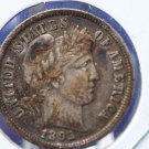 "1892-S Barber Dime. Nice Full ""LIBERTY"".  Highly Sought After  Year.  CS#8396"