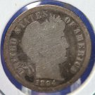 1894 Barber Dime. Well Circualted, Highly Collectible. CS#8408