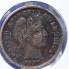 1897 Barber Dime. Nice Full LIBERTY. Even Tone. Strong Extra Fine Coin. CS#8428