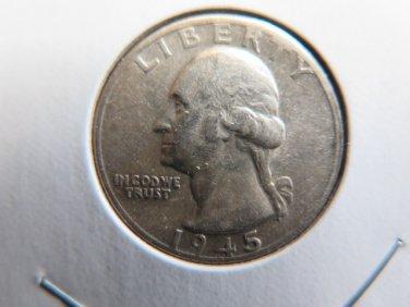 1932 to 1964 Washington Quarters. 90% Silver quarters. 8 Coin Lot - $2.00 Face.