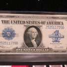 1923 $1 Silver Certificate * Large Note * A.K.A. Horse Blanket * Nice Full Color.