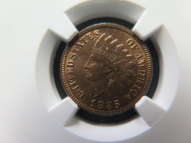 1885 1C Indian Head Penny. Nice High Grade. NGC Certified MS64.