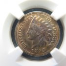 1887 Indian Head Cents. Gem UN-Circulated Details.  NGC Certified.