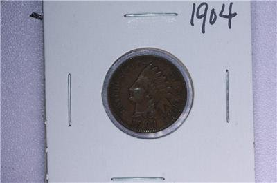 1904 1C. Indian Head Penny.  Good Circulated Condition. Coin Store Sale #1738