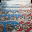 2001 5 Coin Year Set.  Encased Holder WIth Nice Insert. Nice Stocking Stuffer.