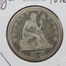 1876-S 25C Seated Liberty Quarter. Very Good Circulated Coin. SALE #1764
