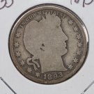 1893-S 25C Barber Silver Quarter. Good Circulated Condition. Sale #1768