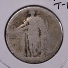 1917-S 25C Standing Liberty Silver Quarter. Type-1. Poor Circulated Coin. #1778