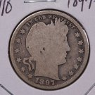 1897-S 25C Barber Silver Quarter. Good Circulated Coin. SALE#1782