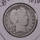 1898-O 25C Barber Silver Quarter. Good Circulated Condition. SALE#1786